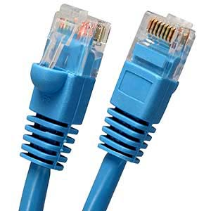 Fuji Labs 50Ft Cat5E STP Ethernet Network Booted Cable Blue