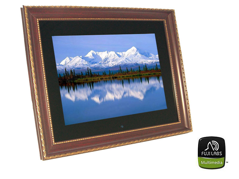 Fuji Labs 14in High-Res Digital Photo/Movie Frame With Free 2G M