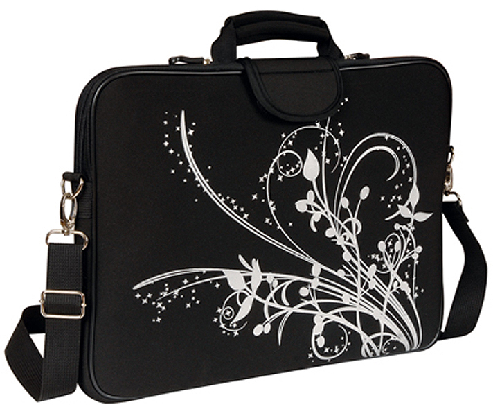 17in Black Orchid Laptop/Notebook Sleeve Carrying Bag with Handl