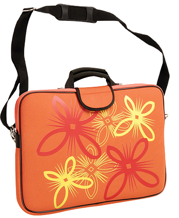16in Twinkle Orange Laptop/Notebook Sleeve Carrying Bag with Han