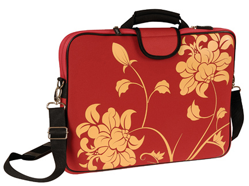 17in Red Blosom Laptop/Notebook Sleeve Carrying Bag with Handle