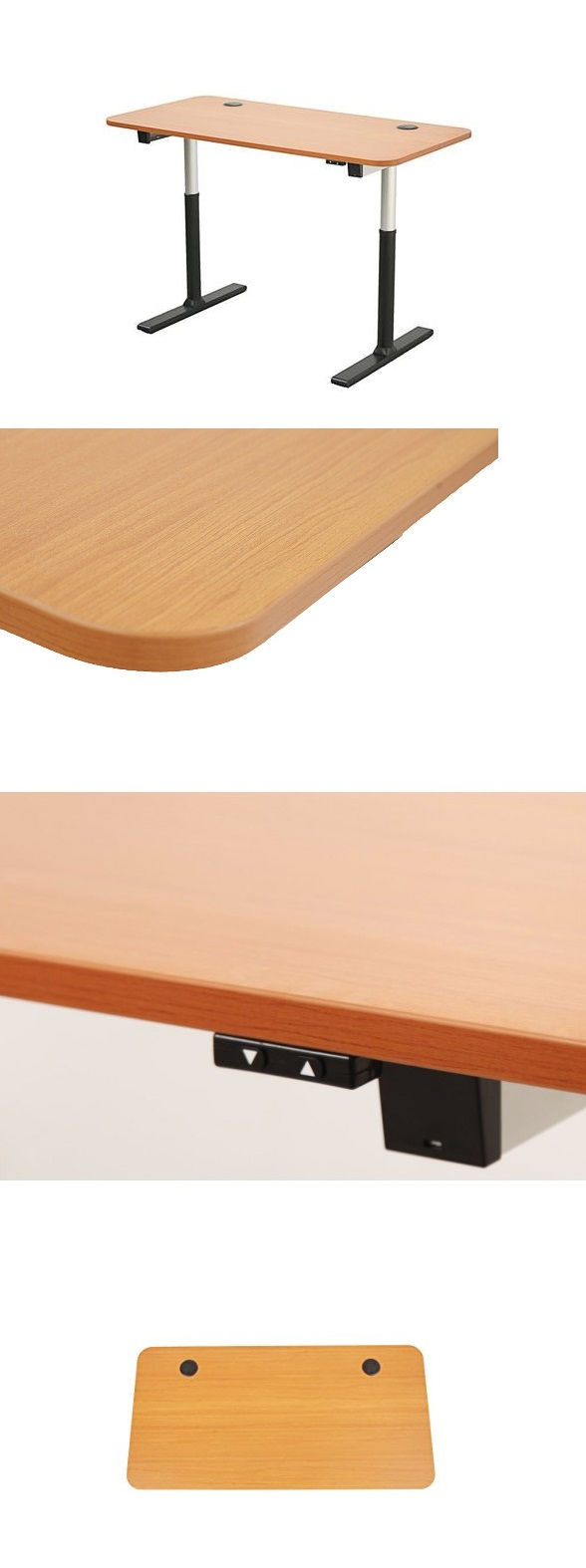 ApexDesk 60-in Wide 2-Button Electric Adjustable Desk- Cherry