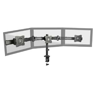 "Fuji Labs Triple Monitor Desckmount Stand for 13~27"" Monitor"