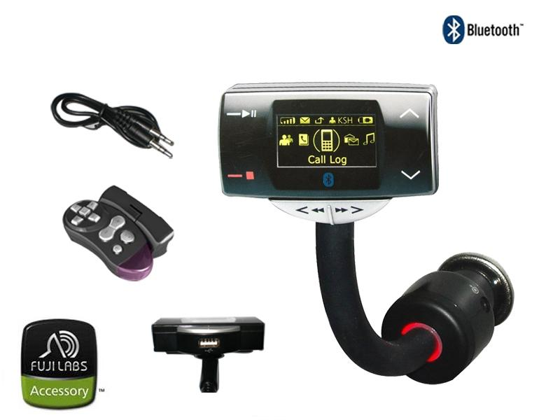 Fuji Labs BlueTrip8100 Multimedia Bluetooth Car Kit with FM Tran - Click Image to Close