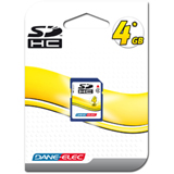 Dane-Elec DA-SD-4096-R SDHC Card - 4GB Class 4