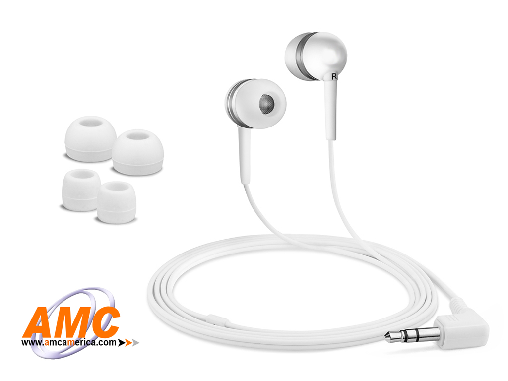 AMC White Acoustic Isolation Silicone Earbud-OEM