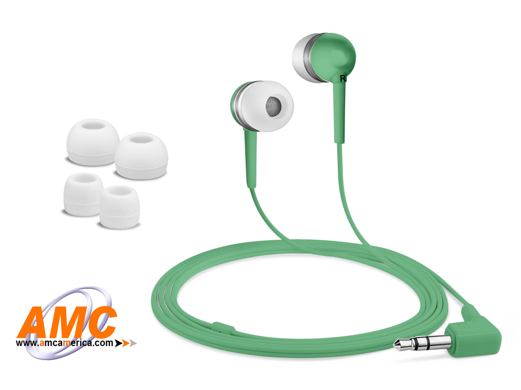 AMC Green Acoustic Isolation Silicone Earbud-OEM
