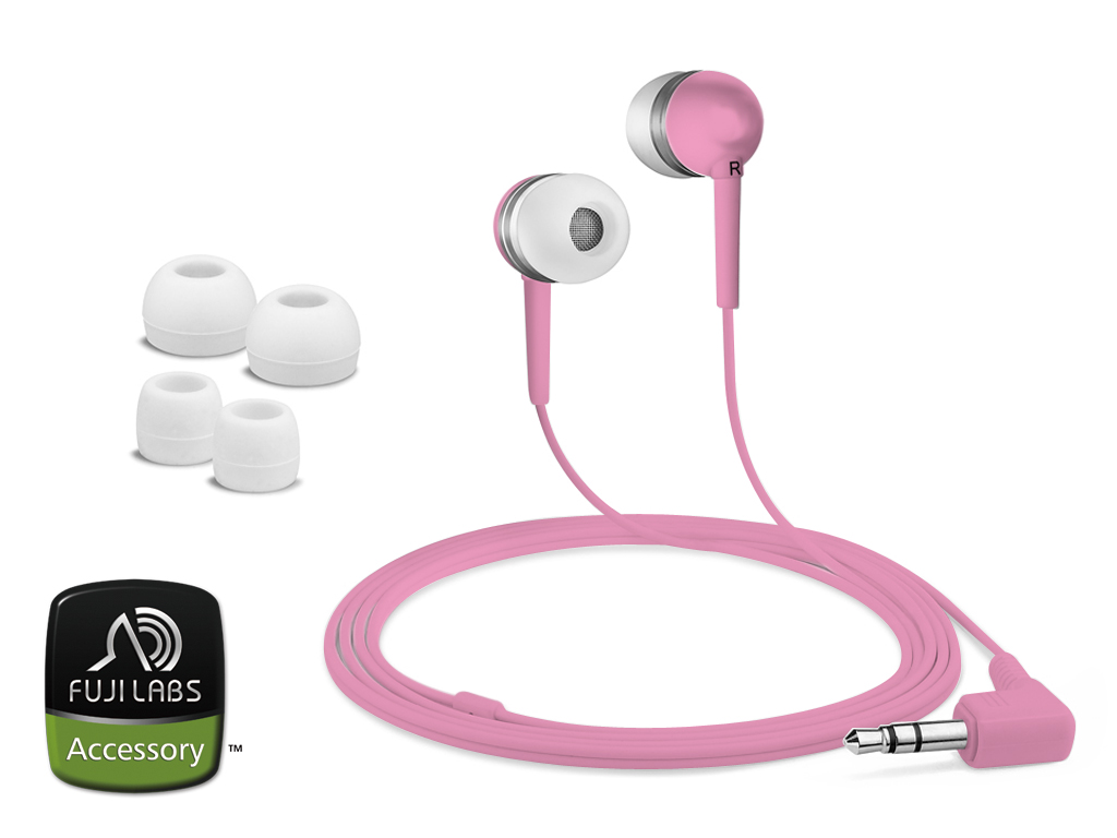 Fuji Labs Pink Silicon Earbuds Headphones (Pack of 2)
