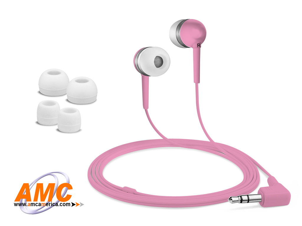 AMC Pink Acoustic Isolation Silicone Earbud-OEM