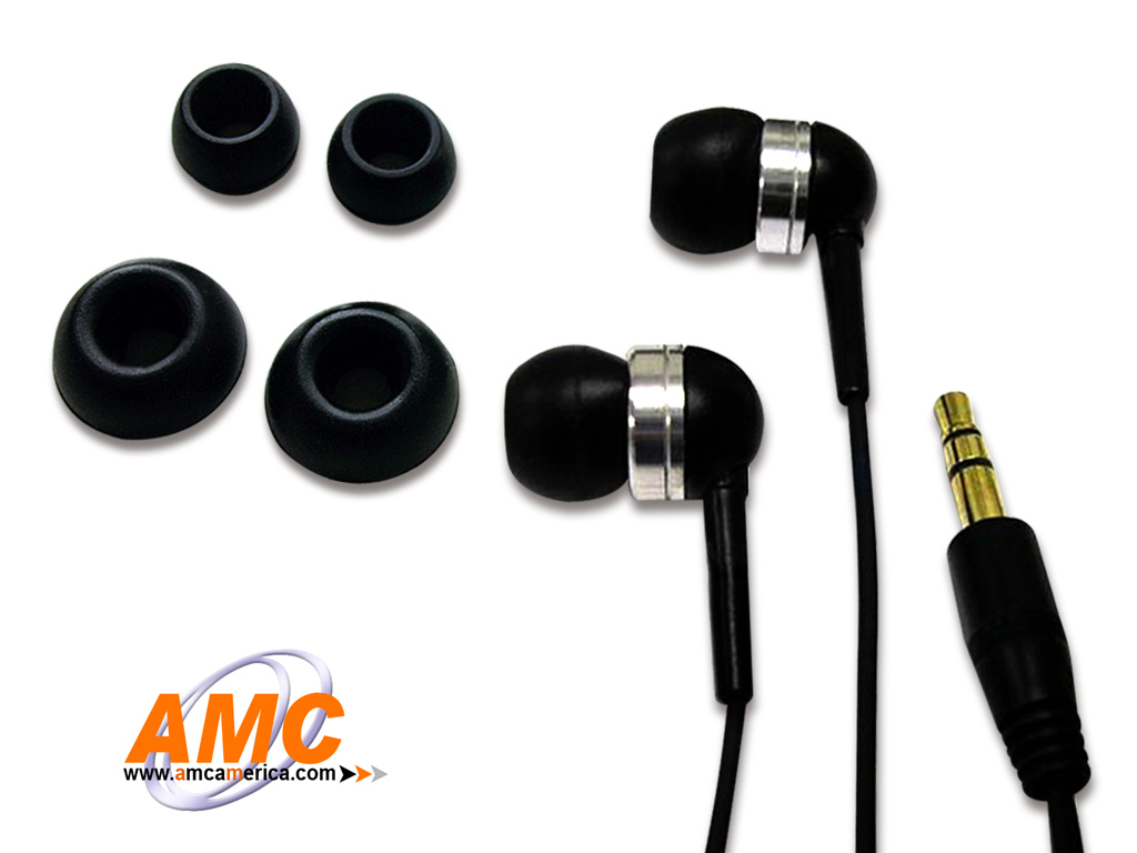 AMC Black Acoustic Isolation Silicone Earbud-OEM