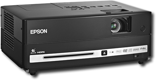 Epson - MovieMate 60 WSVGA Portable Projector with DVD Player