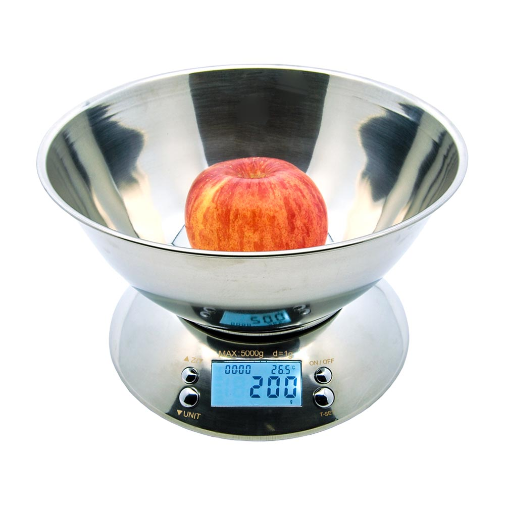 Fuji Labs 5Kg (11LBS) Food Grade Stainless Bowl Kitchen Scale