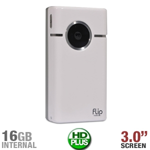 Flip Video SlideHD S1240W Camcorder, White