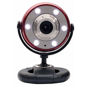 Gear Head Red/Black 5.0MP WebCam With HD Video