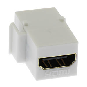 Fuji Labs HDMI Keystone Coupler (White)