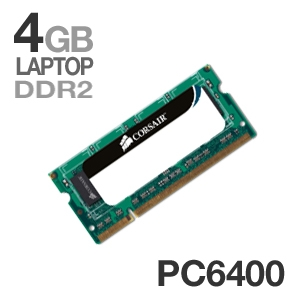 Corsair VS4GSDS800D2 4GB DDR2 PC6400 Laptop Memory Upgrade