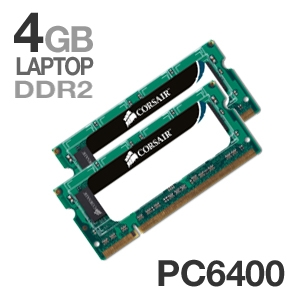 Corsair 4GB DDR2 PC6400 Dual Channel Laptop Memory