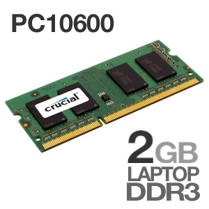 Crucial CT25664BC1339 2048MB PC10600 DDR3 SODIMM Laptop Memory